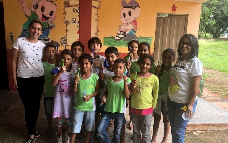 030dba983f5c8 Cerca de 550 alunos participam de ações de saúde bucal em Santa Elvira e  Fátima de São Lourenço